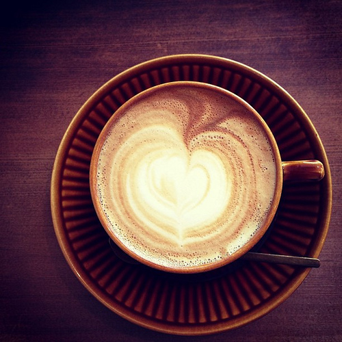 ニムカフェ Nim.cafe 王子公園のカフェラテ